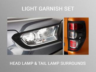 Black Head Light and Tail Light Garnish