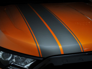 Ford Ranger Graphite Stripe Kit on the Front Bonnet