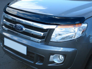 Ford Ranger T6 2012 To 2016 Dark Smoke Bonnet Bug Shield