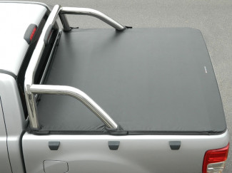 Ford Ranger 2012 On Double Cab Soft Tonneau Cover To Fit With OE Roll Bar