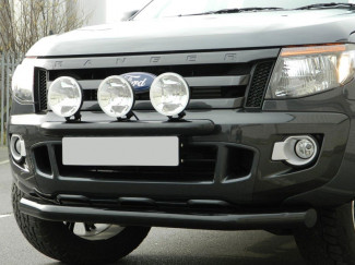 T6 Ford Ranger 12 On 76mm Trux City Guard Spoiler Bar Black Coated