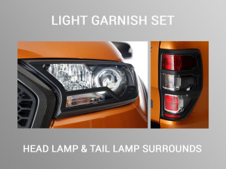Black Head Light and Tail Light Garnish