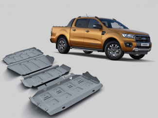 Ford Ranger 2019 onwards 4mm Alloy Under Body Protection Kit
