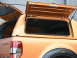 Alpha CMX gullwing hard top fitted to Ford Ranger