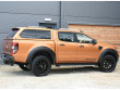 Ford Ranger double cab in sabre orange with a leisure hard top fitted